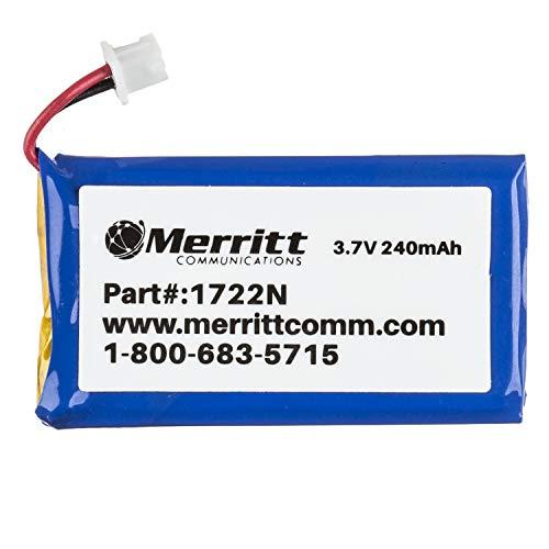 Merritt Compatible Plantronics Battery Replacement for C052 CS50 CS55 CS351n and CS361n CS510 CS520 W710 and W720 Wireless Headsets