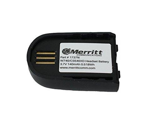 Replacement Battery for Plantronics Savi W02 W740 W745 W440 and CS540XD Wireless Headsets