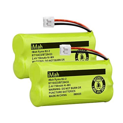 iMah BT18433BT28433 Cordless Phone Battery Compatible with AT&T VTech BT184342BT284342 BT-8300 BT1011 BT1018 BT1022 BT1031 2SN-AAA55H-S-J1 Telephone Batteries Pack of 2