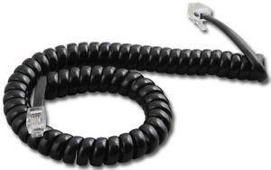 Polycom SoundPoint 9 ft Black Handset Cord For IP 301 501 601 670 321 331 335 450 550 560 650 Phones