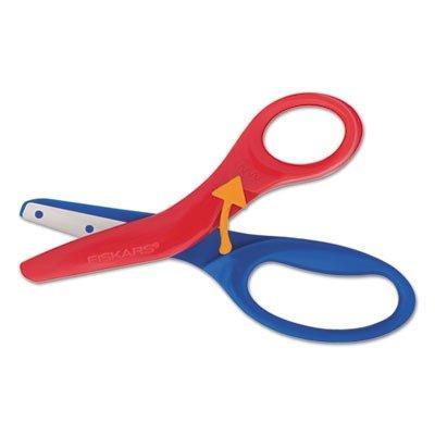 -- Preschool Training Scissors 5quotL 1 12quot Cut Plastic RedBlue