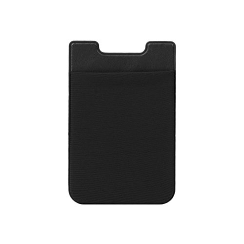 LANDUM Adhesive Sticker Mobile Phone Back Cards Wallet Credit ID Card Holder Pocket Black