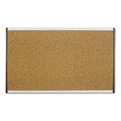 Arc Frame Cork Cubicle Board 18 X 30 Tan Aluminum Frame By Quartet