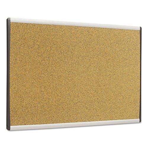 Cubicle Arc Frame Colored Cork Board 14 x 24 Tan Aluminum Frame