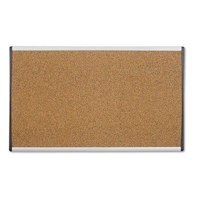 Cubicle Arc Frame Colored Cork Board 14 x 24 Tan Aluminum Frame Sold as 1 Each