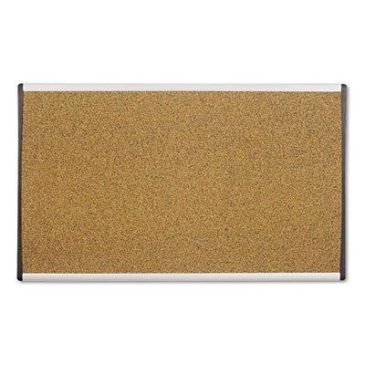 Cubicle Arc Frame Colored Cork Board 18 x 30 Tan Aluminum Frame Sold as 1 Each