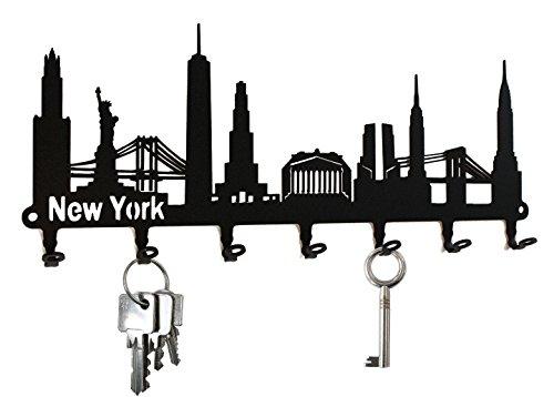 New York Skyline - Key Holder Hooks Hanger by steelprintde