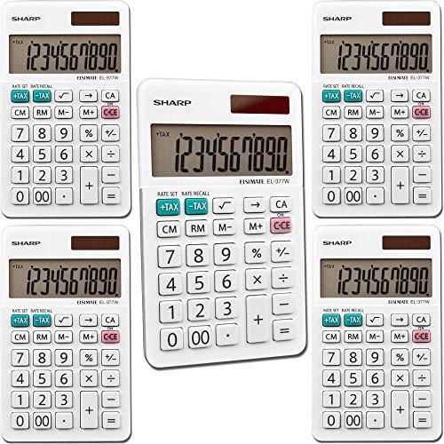 Sharp EL377WB EL-377WB Large Pocket Calculator 10-Digit LCD