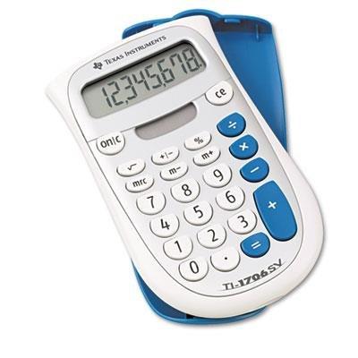 TI-1706SV Handheld Pocket Calculator 8-Digit LCD