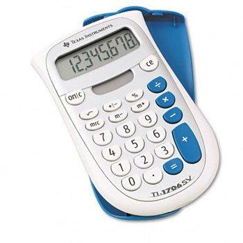Texas Instruments TI-1706SV Handheld Pocket Calculator CALCULATORSOLAR4FUNCTN DPCE321 Pack of10