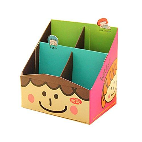 4 PCS Creative Korea Style DIY Office Desktop Organizers Boxes Paper Material