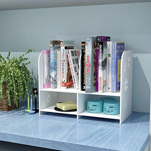 DNSJB DIY Office Desktop Organizer Book Shelf Storage Rack Color  No Drawer
