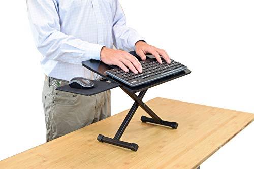 KT3 Ergonomic Adjustable Height Negative Tilt Computer Keyboard and Mouse Stand for Standing sit Stand up Riser on Desk Platform Lift Raise Keyboards to Standing Above Desk