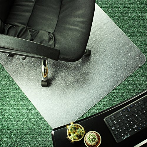 Marvelux 48 x 60 ECO Polymer Rectangular Chair Mat for Low and Standard Pile Carpets  Transparent  Multiple Sizes