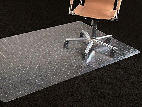 Office Premium Chair Mat 35x47 Carpet Protection Mat Low Medium PileStuddedClearRectangular Shaped