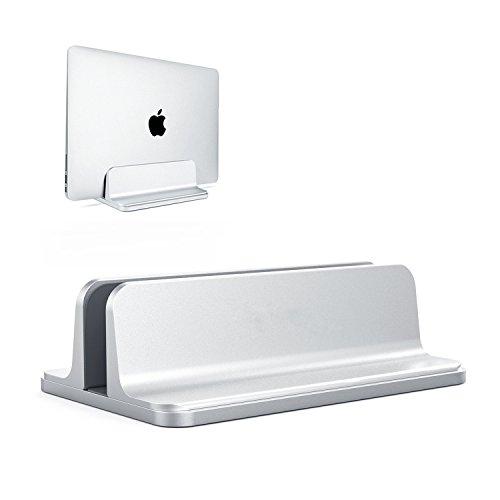 Laptop StandVertical Desktop Holder with Adjustable Dock SizeLaptops Holder Compatible with All Notebooks -MacBookSurfaceDellGamingiPad -Silver