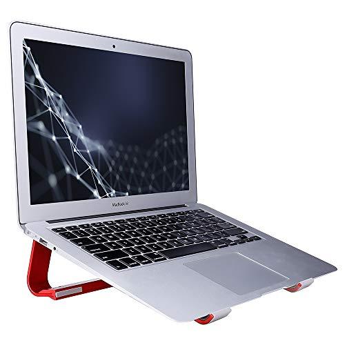 SKYZONAL Laptop Stand Aluminum Ventilated Stand Ergonomic Riser Red
