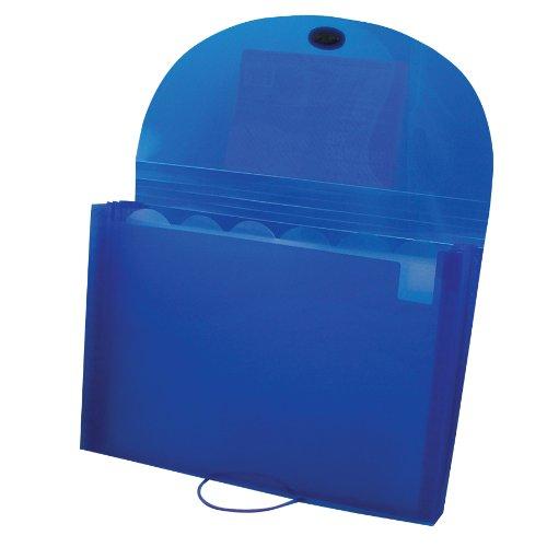C-Line Biodegradable 7-Pocket Expanding File Letter Size 1 Expanding File Blue 48305