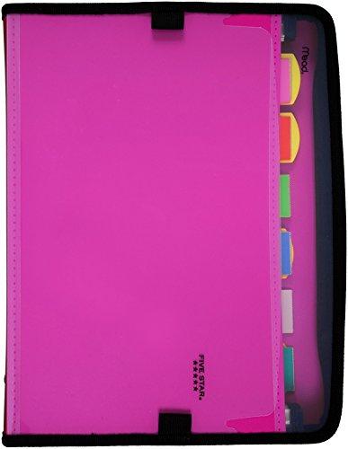 Five Star Expanding File 7-Pocket Expandable Folder Customizable Berry PinkPurple 38218