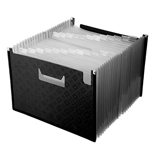 24 Pockets Expanding File FoldersA4 Accordion File Organizer Expandable File Folder with dividers High Capacity Plastic File Wallets Stand Bag for OfficeBusinessStudy