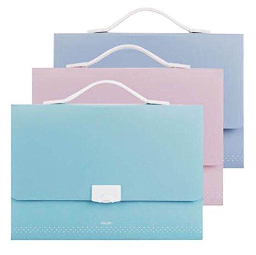Set of 1 13-Pockets Expanding File Folder Buckle Closure Random Color