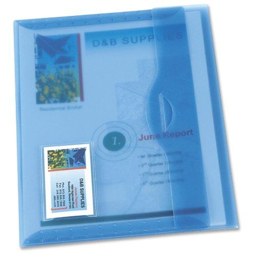 Avery Translucent Document Wallet Light Blue 1 Each 72279