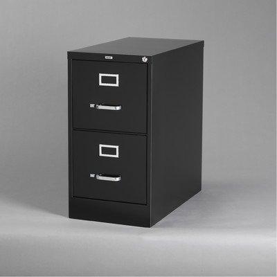 25 Deep Commercial 2 Drawer Letter Size High Side Vertical File Cabinet Color Black