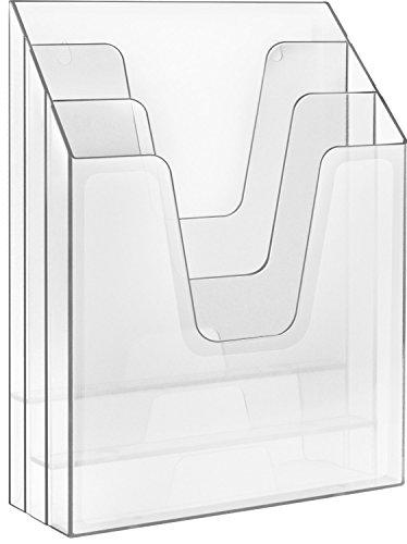 Acrimet Vertical File Folder Organizer Crystal