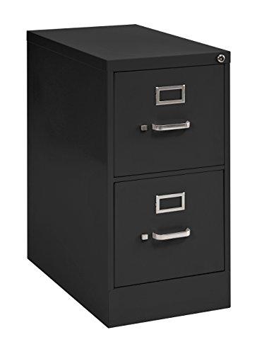 Muscle Rack VFLT222-09 Letter Size Steel Vertical File Cabinet 2 Drawer 22 Depth Black