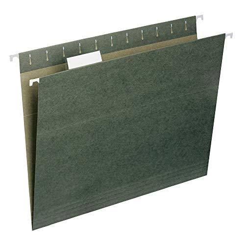 Smead Hanging File Folder with Tab 15-Cut Adjustable Tab Letter Size Standard Green 50 per Box 64029 Renewed
