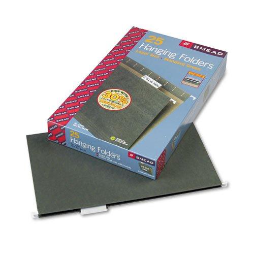Smead - Hanging File Folders 15 Tab 11 Point Stock Legal Green 25Box 64155 DMi BX