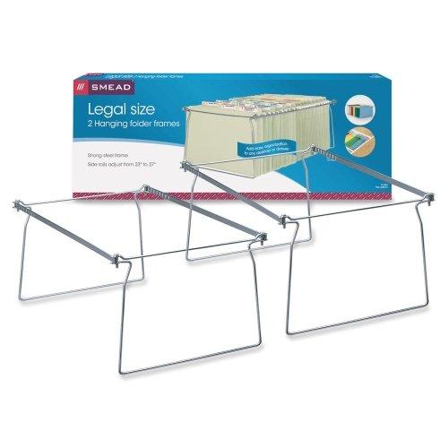 Wholesale CASE of 15 - Smead Hanging File Folder Frames-Hanging Folder Frame Legal 2PK SteelGray