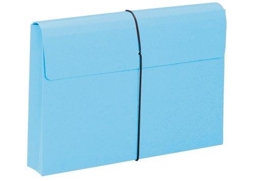 Smead Expanding Wallet 2 Inches Expansion Elastic Closure Legal Size Blue 10 per Box 77208