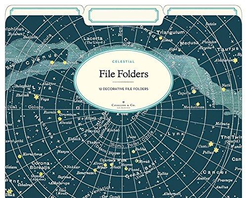 Cavallini Papers Co Celestial Heavyweight File Folders Set of 12