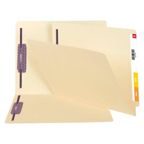 Smead End Tab Fastener Heavyweight File Folder with SafeSHIELD Shelf-Master Reinforced Straight-Cut Tab 2 Fasteners Letter Size Manila 50 per Box 34217