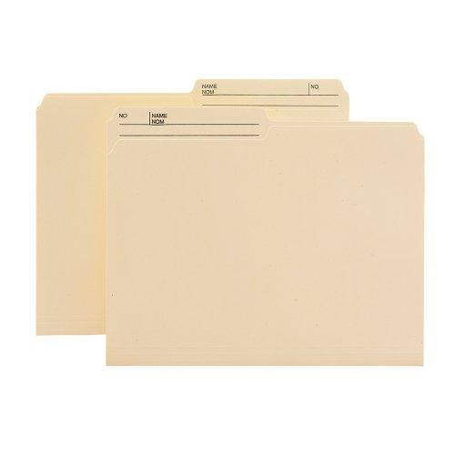 Smead Reversible Heavyweight File Folder 12-Cut Right Printed Tab Letter Size Manila 100 per Box 10445