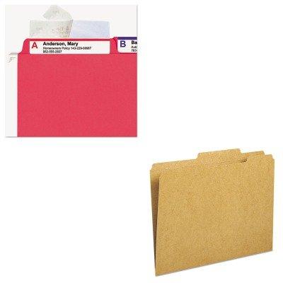 KITSMD10776SMD67600 - Value Kit - Smead Kraft File Folder SMD10776 and Smead Seal amp View File Folder Label Protector SMD67600