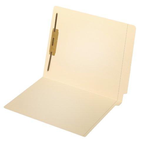 Globe-WeisPendaflex End Tab Fastener Folders Reinforced Tab 1 Fastener Letter Size Manila 50 Folders Per Box 44210