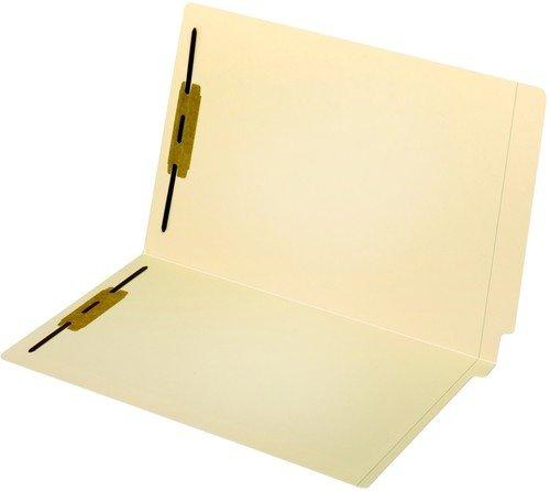 Globe-WeisPendaflex End Tab Fastener Folders Reinforced Tab 2 Fasteners Legal Size 14 Point Manila 50 Folders Per Box 47215