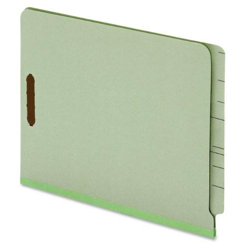 Globe-WeisPendaflex End Tab Pressboard Fastener Folders 3-Inch Expansion 2 Fasteners Legal Size Light Green 25 Folders Per Box 47725