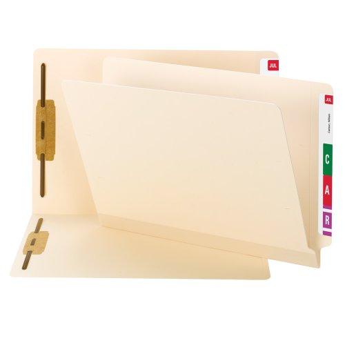 Smead TUFF Laminated End Tab Fastener Folder Shelf-Master Reinforced Straight-Cut Tab Letter Size Manila 50 per Box 34105
