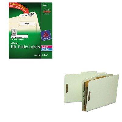 KITAVE5366SMD18722 - Value Kit - Smead Classification Folder SMD18722 and Avery Permanent Self-Adhesive LaserInkjet File Folder Labels AVE5366