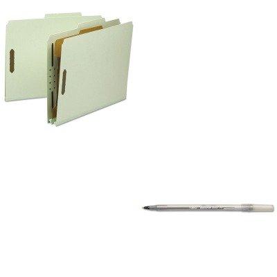 KITBICGSM11BKSMD13723 - Value Kit - Smead Classification Folder SMD13723 and BIC Round Stic Ballpoint Stick Pen BICGSM11BK