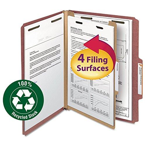 Smead - Classification Folder 1Div-2Exp 25 Cut Ltr 10BX RD Sold as 1 Box SMD 13724