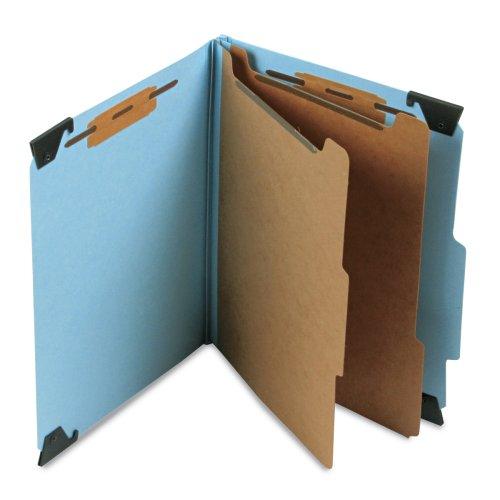 Smead Hanging 6-Section Blue Pressboard Letter Size Classification Folders 65115