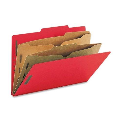 Wholesale CASE of 5 - Smead Classification Folder wPocket Dividers-Folders WPocket Dividers Legal 2 Partitions 10BX BRD
