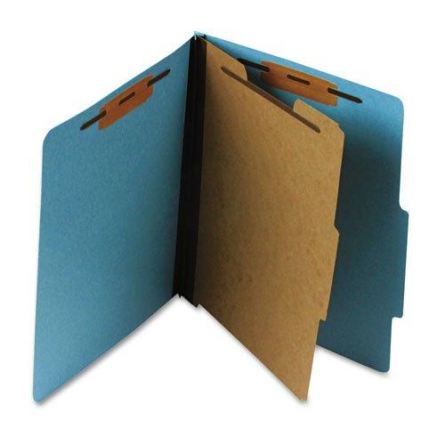 Pendaflex Pressboard Classification Folder Letter Four-Section Sky Blue