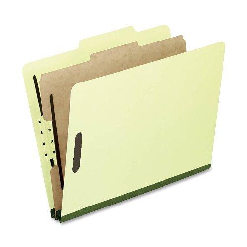 Pendaflex Pressboard Classification Folders Letter Size 4-Section Lt Green 10 per Box 1157G by Pendaflex