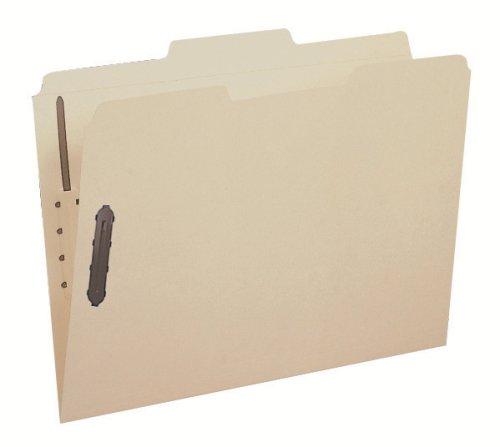 Smead Fastener File Folder 2 Fasteners Reinforced 13-Cut Tab Letter Size Manila 12 per Pack 11537