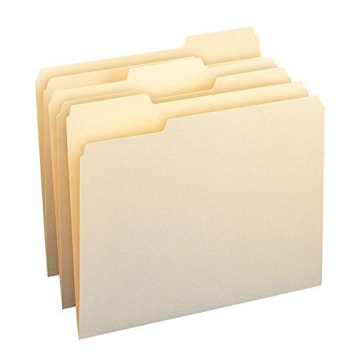 Smead Manila File Folder 13-cut Tab Letter Size Manila Jumbo Pack 500 Manilla Folders 10330